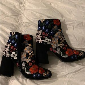 Fun embroidered bootie